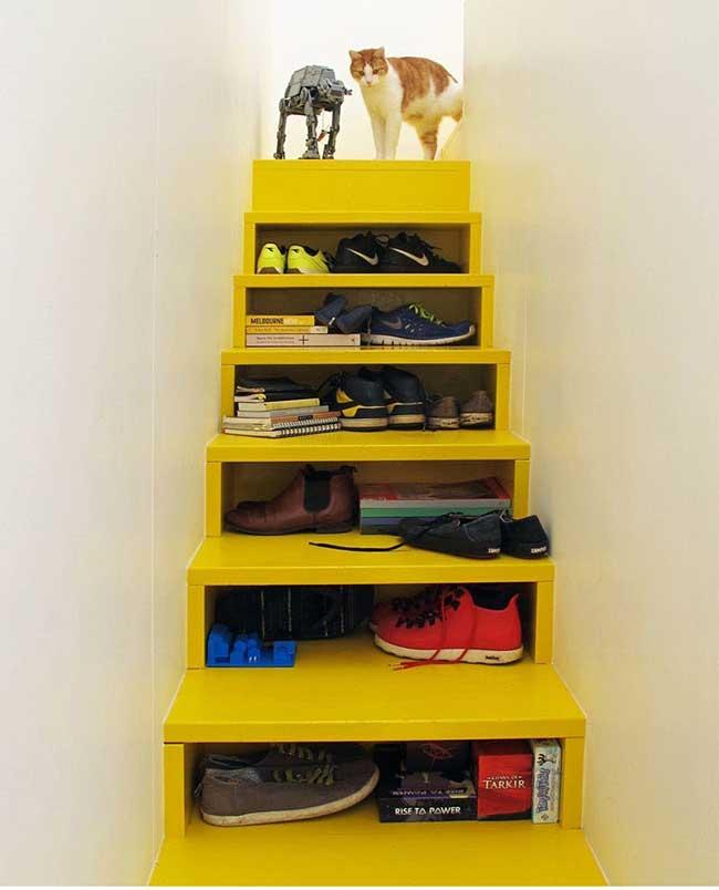 escaliers contremarches rangements, Ces Escaliers Cachent des Rangements dans leurs Marches