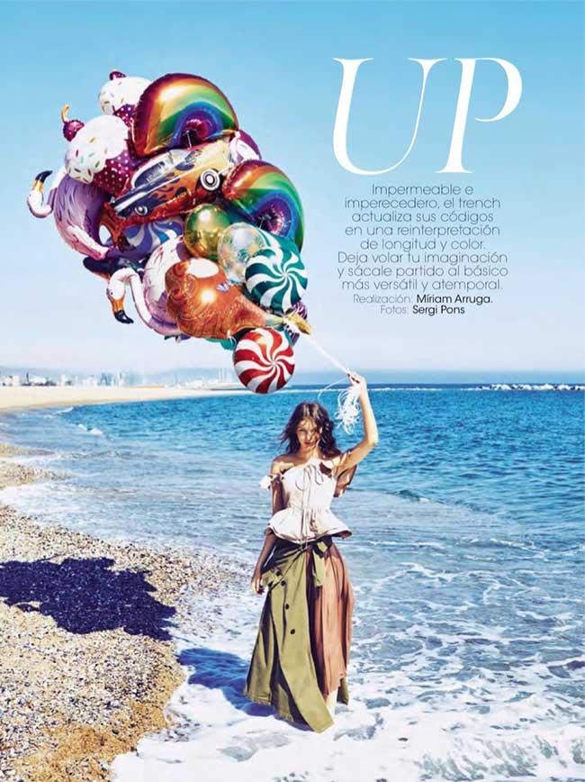 fille ballons glamour espagne romana umrianova 1 - La Fille aux Ballons de Glamour Espagne nous Invite à la Plage