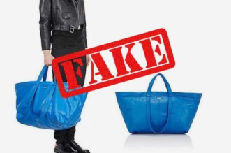 Ikea Balenciaga Sac Bleu Campagne