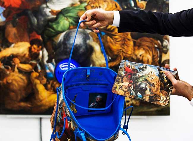 Jeff Koons Louis Vuitton, Jeff Koons Habille de Toiles de Maîtres les Sacs Louis Vuitton
