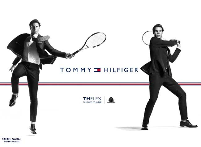 , Rafael Nadal Joue au Tennis en Costume Tommy Hilfiger (video)