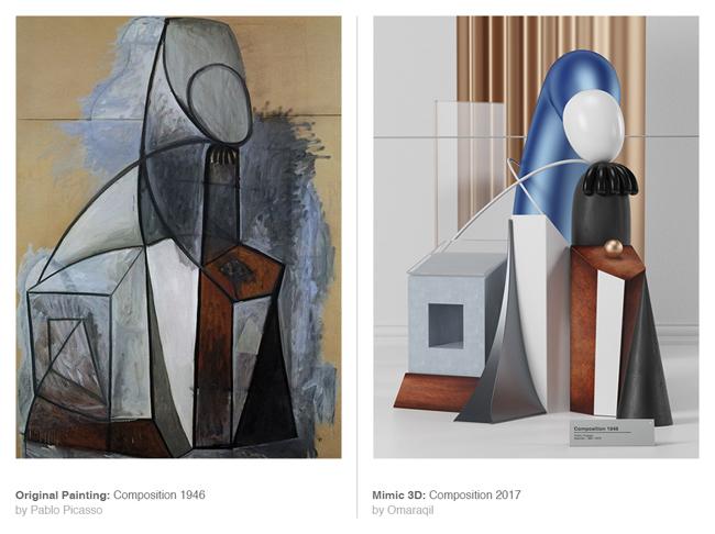 Omar Aqil 3D Picasso, Il Transforme en 3D les Célèbres Toiles Cubistes de Picasso