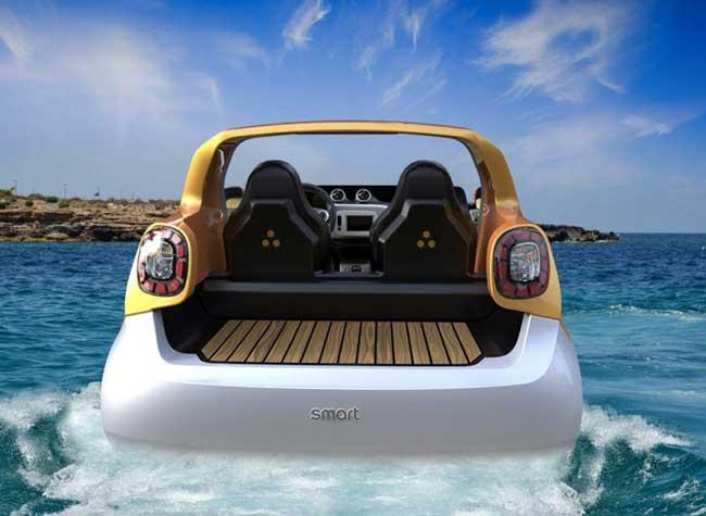 Smart Forsea amphibie, Rouler sur l'Eau avec la Nouvelle Smart ForTwo Amphibie
