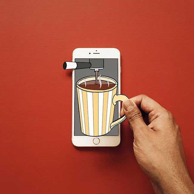 , Quand un Illustrateur Transforme son iPhone en Aire de Jeu