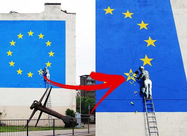 Banksy Dover Brexit Street Art