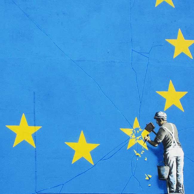 Banksy Brexit, Banksy Fête le Brexit avec une Mémorable Fresque (video)