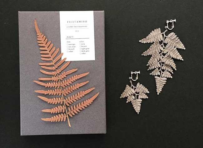 , Bijoux Organiques en Dentelle de Crochet par Miho Fujita