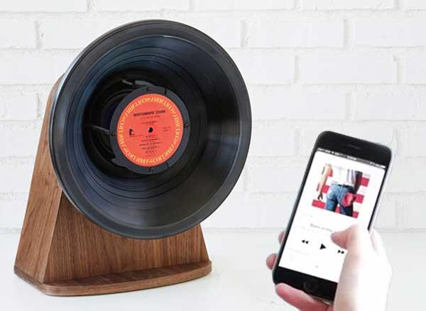 Enceintes Bluetooth Vinyle
