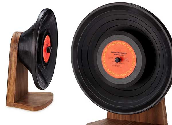 , Les Disques Vinyles Font leur Retour en Enceinte Bluetooth (video)