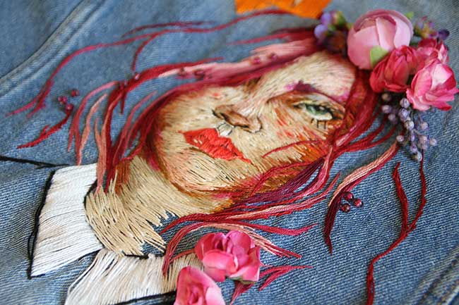 , Elle Transforme une Veste en Jean en Oeuvre d'Art Brodée