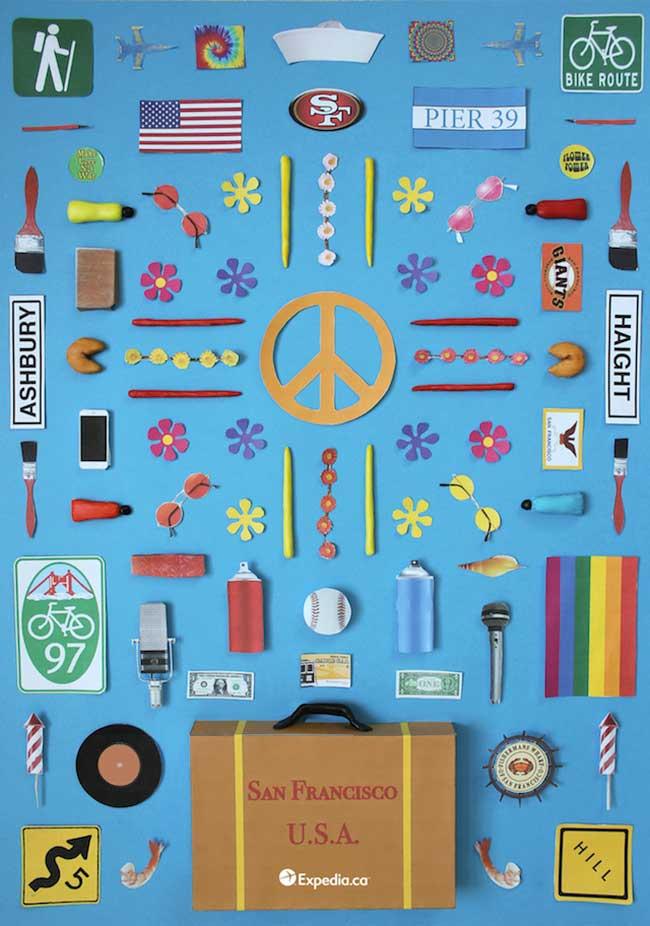 objets cultes paris tokyo rio san francisco jordan bolton 2 - Ces Petites Choses qui Font les Grandes Capitales en Poster