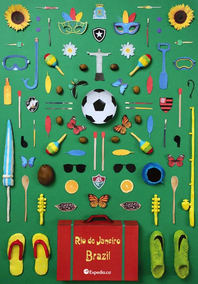 objets cultes paris tokyo rio san francisco jordan bolton 4 - Ces Petites Choses qui Font les Grandes Capitales en Poster