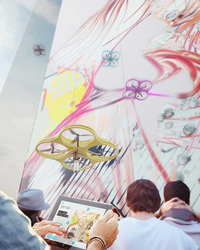 , Peindre avec un Drone des Fresques Murales c'est Possible !