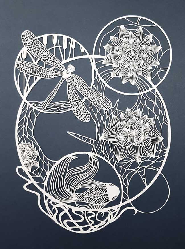 , Faune et Flore Finement Ciselées dans du Papier par Pippa Dyrlaga