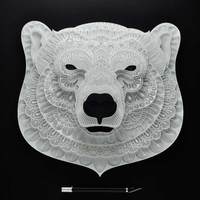 Favori Fragiles Portraits en Papier 3D d'Animaux Menacés d'Extinction  FK51