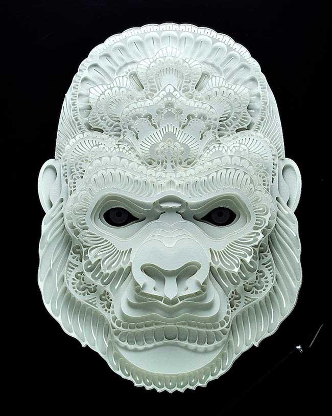 , Fragiles Portraits en Papier 3D d'Animaux Menacés d'Extinction