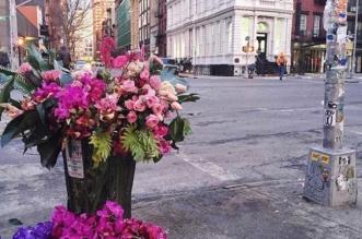 Bouquet Fleurs Poubelles New York