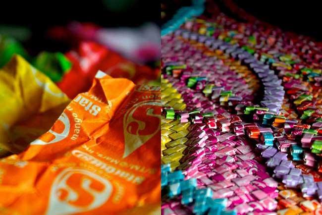 robe bonbons emballage recycle papier 2 - 10000 Emballages de Bonbons pour cette Elegante Robe