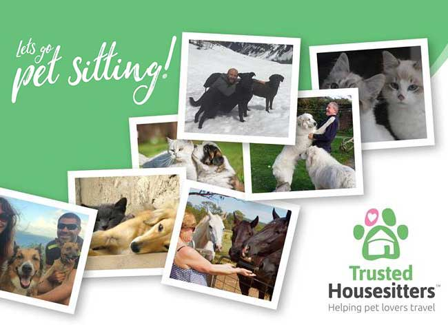 Trusted Housesitters Garde Chiens chats Monde