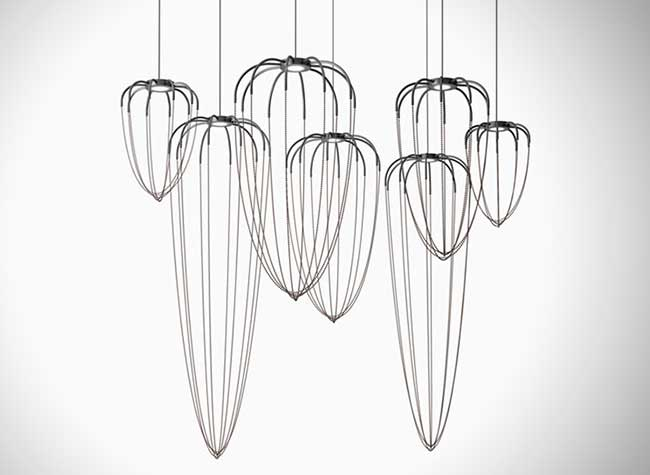 aalysoid ryosuke fukusada, Alysoid, les Lampes Suspensions Délicatement Sculpturales
