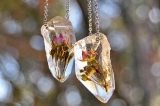 TreeFernDesigns Bijoux Fleurs Resine