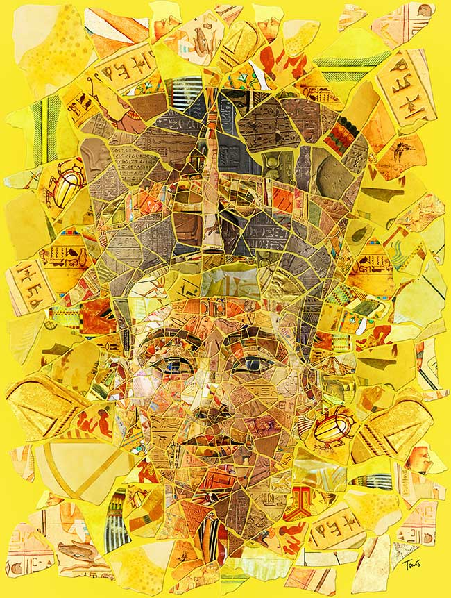 , Artistiques Portraits en Mosaïque aux Textures Uniques