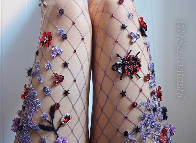 collants resille, Féérique Collection de Collants Résille aux Allures de Bijoux