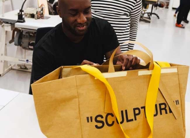 , Le Designer Virgil Abloh Revisite le Sac Frakta pour Ikea