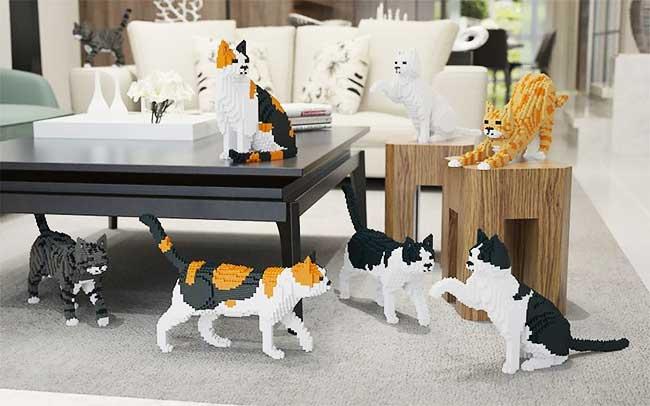 , Adopter des Sculptures  de Chats en Lego de Taille Réelle