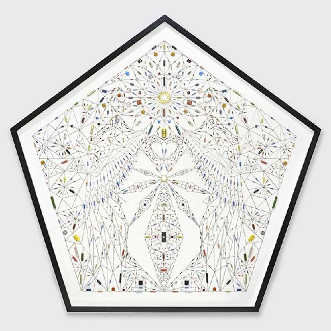 Leonardo Ulian Mandalas Electronique, Hypnotiques Mandalas Faits de Composants Electroniques