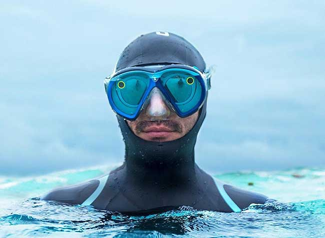 Seaseeker Masque Plongee Snapchat Lunettes, Filmer sous la Mer avec ce Masque et vos Lunettes Snapchat (video)