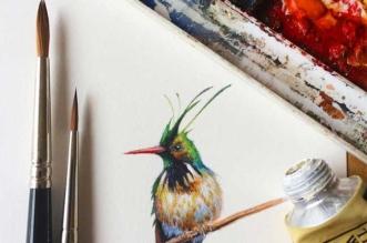 Peintures Oiseaux Miniatures Dina Brodsky