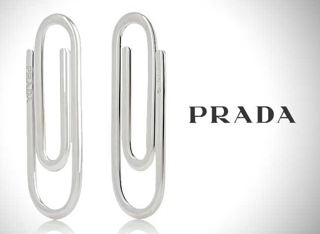 Trombone Prada Argent