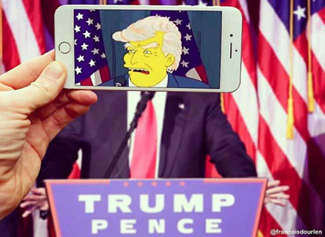simpsons francois dourlen iphone superposition photos 4 - Il voit des Simpsons Partout à Travers l'Ecran de son Smartphone