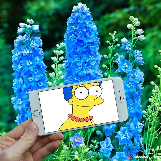 simpsons francois dourlen iphone superposition photos 7 - Il voit des Simpsons Partout à Travers l'Ecran de son Smartphone