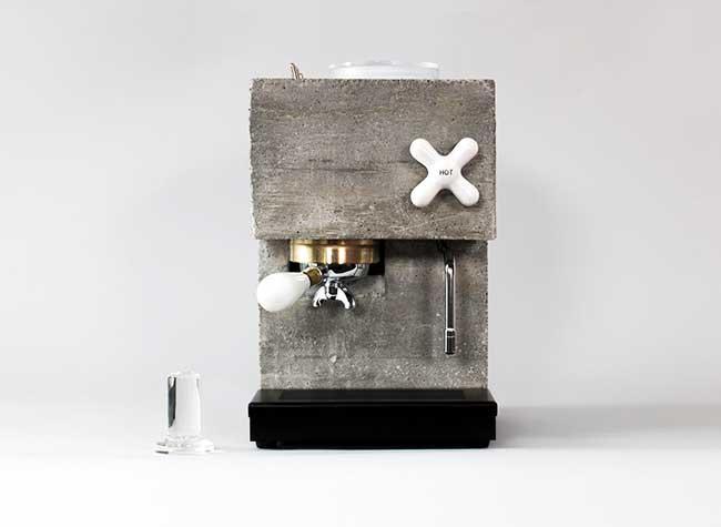 anza espresso machine montaag beton design 1 - Anza, la Première Machine à Café Expresso en Béton Armé
