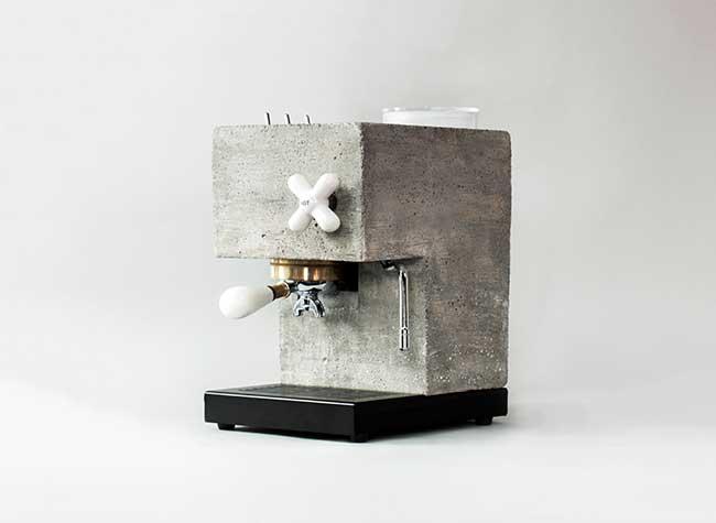 anza espresso machine montaag beton design 4 - Anza, la Première Machine à Café Expresso en Béton Armé