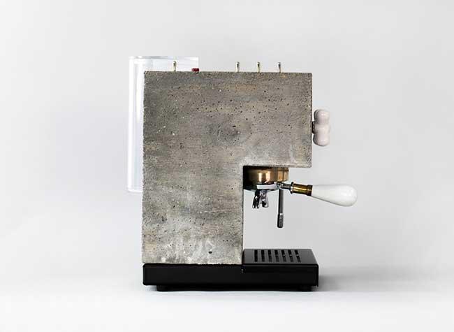 anza espresso machine montaag beton design 5 - Anza, la Première Machine à Café Expresso en Béton Armé