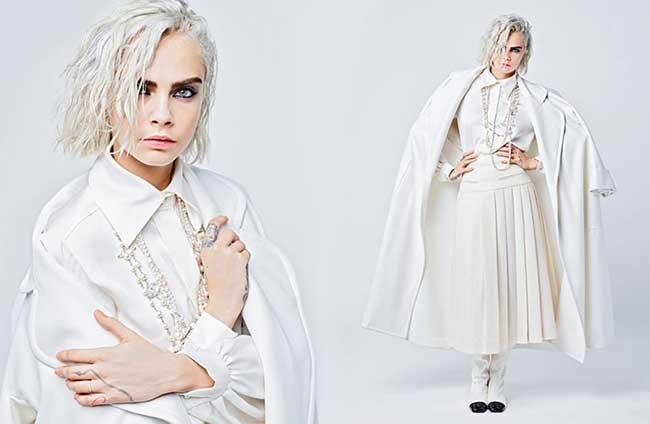 chanel femme hiver 2017 campagne, Lily-Rose Depp et Cara Delevingne dans un Ordinaire Noir et Blanc pour Chanel cet Hiver