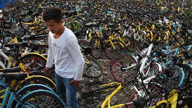vélos abandonnés chine, 23000 Vélos Abandonnés en Chine par les Sociétés de Location