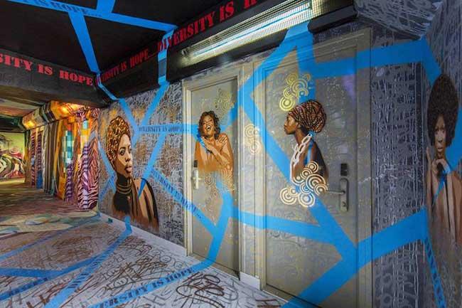 Rehab graffiti art paris, 100 Graffiti Artistes Redécorent une Résidence Universitaire avant sa Rénovation
