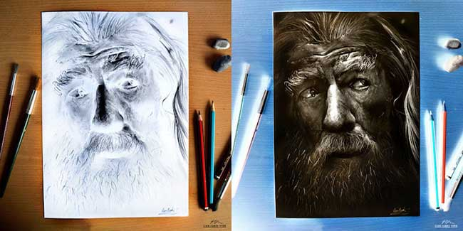 Art Négatif, Portraits Hyperréalistes Illustrés en Négatif Art