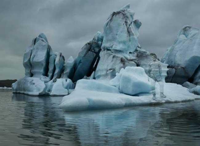 campagne moncler hiver 2017 2018, L'Artiste Liu Bolin au Pied des Icebergs pour Moncler (video)