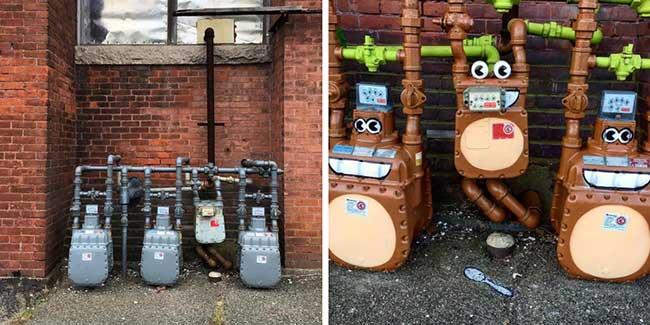 tom bob street art detournement 6 - Ces Détournements d'Objets Urbains Amusent les New-Yorkais