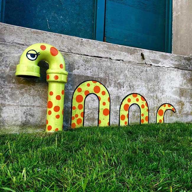 tom bob street art detournement 9 - Ces Détournements d'Objets Urbains Amusent les New-Yorkais
