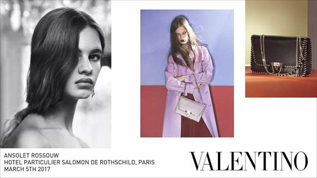 valentino femme campagne hiver, Triptyque de Mode cet Hiver pour Valentino Femme par David Sims