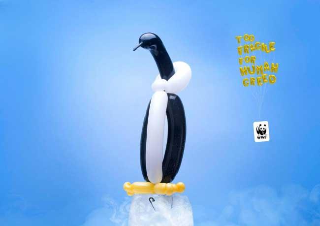 WWF Ballons Animaux, Animaux Sauvages en Ballon pour Protéger la Planète