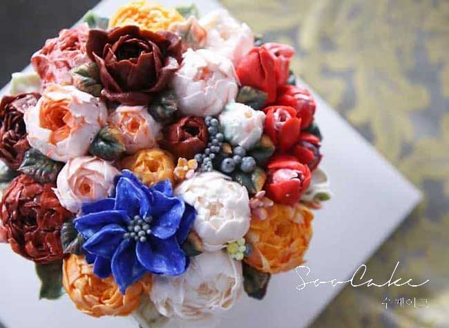 gateaux fleurs atelier soo, Ces Somptueux Bouquets de Fleurs sont de Délicieux Gâteaux