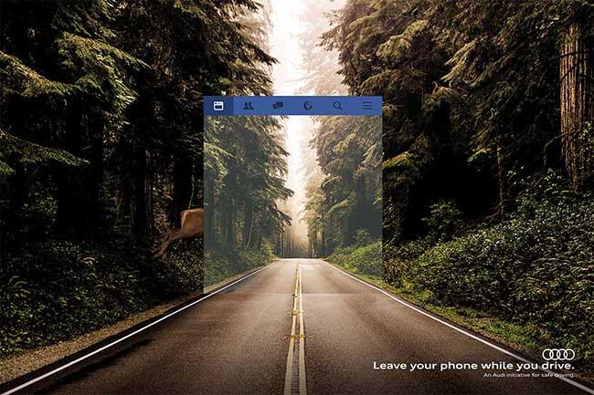 Campagne Audi, Utiliser un Smartphone sur la Route Réduit votre Champ de Vision