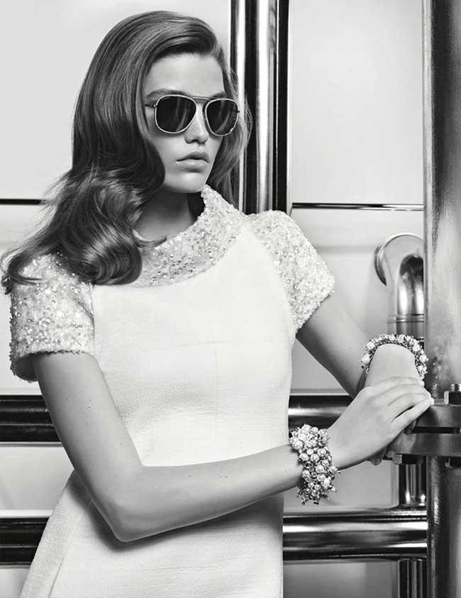 84c0cf503bb48a Retour des Lunettes Rétro Glam Chic chez Chanel - MaxiTendance